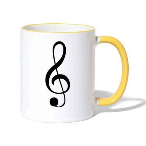 Musik Symbol Musikschlüssel Notenschlüssel - Tasse zweifarbig