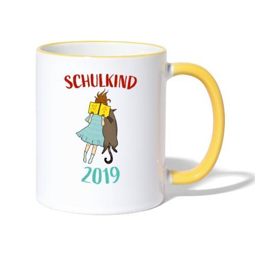 Schulkind 2019 | Einschulung und Schulanfang - Tasse zweifarbig