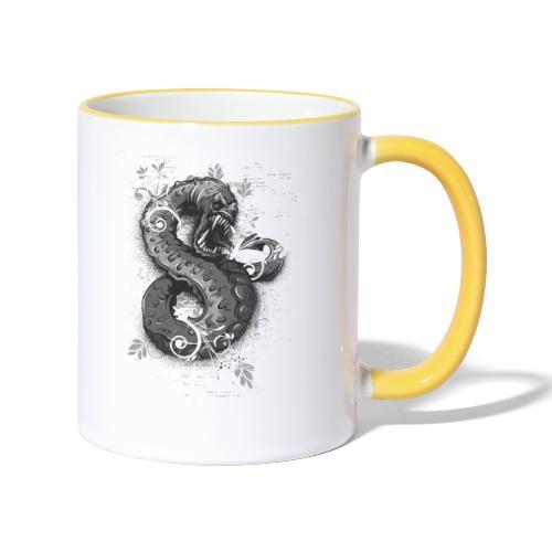 Schlange - Tasse zweifarbig