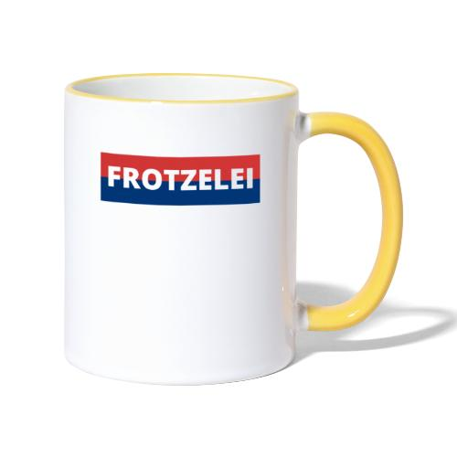 FROTZELEI - Polizeikontrolle Geschenk Autofahrer - Tasse zweifarbig