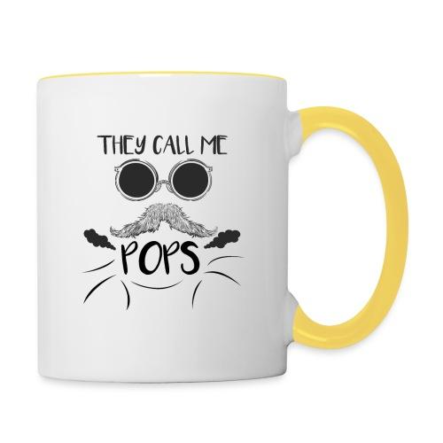 they call me pops t-shirt pour homme - Mug contrasté