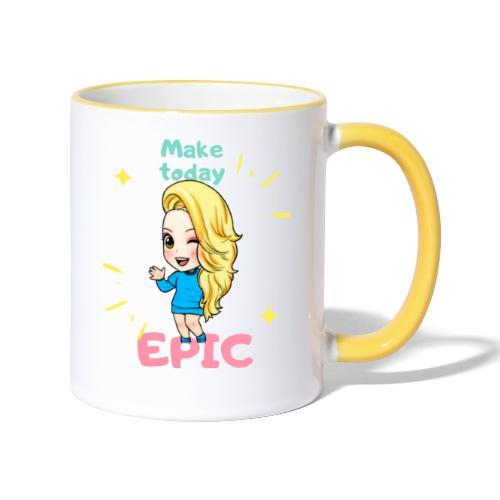 make today epic - Tvåfärgad mugg