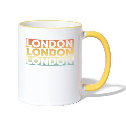 Vintage London Souvenir - Retro SehnsuchtLondon - Tasse zweifarbig