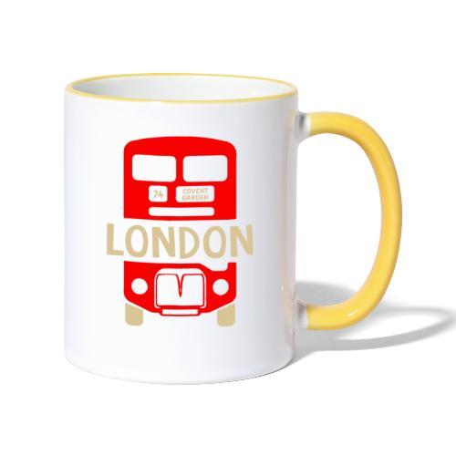 London Bus Roter Doppeldecker London Fan Souvenir - Tasse zweifarbig
