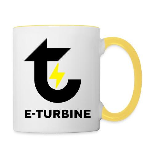 logo schwarz - Tasse zweifarbig