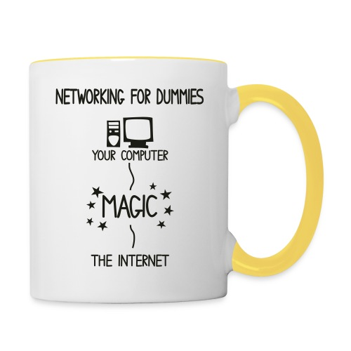 Network Schematic for Dummies - Contrasting Mug