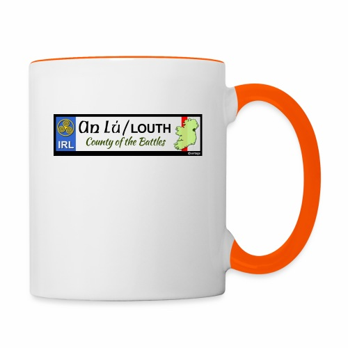 CO. LOUTH, IRELAND: licence plate tag style decal - Contrasting Mug