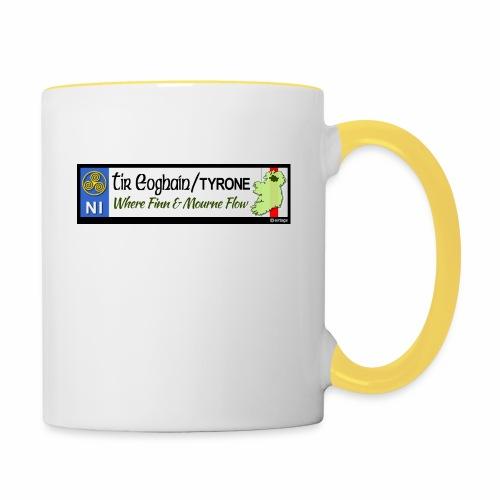 TYRONE, NORTHERN IRELAND licence plate tags decal - Contrasting Mug
