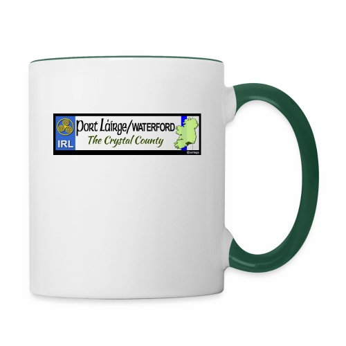 WATERFORD, IRELAND: licence plate tag style decal - Contrasting Mug