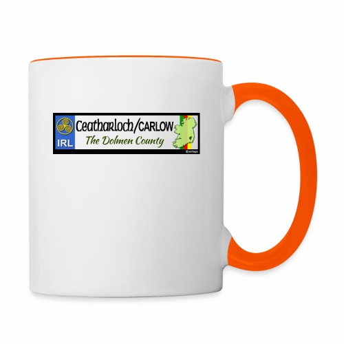 CARLOW, IRELAND: licence plate tag style decal - Contrasting Mug