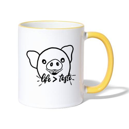 Cute Pig - Contrasting Mug