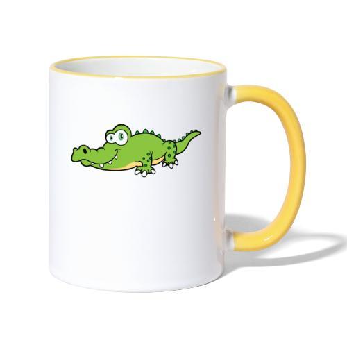 Krokodil - Mok tweekleurig