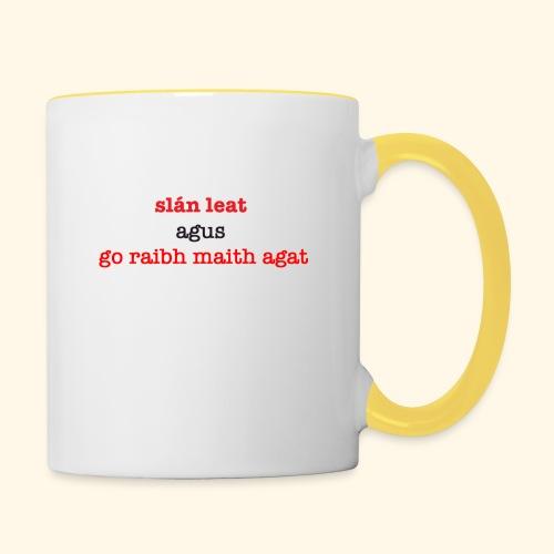 Good bye and thank you - Contrasting Mug