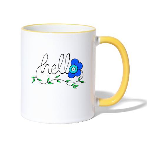 Hello Blume. - Tasse zweifarbig
