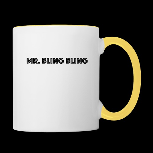 bling bling - Tasse zweifarbig
