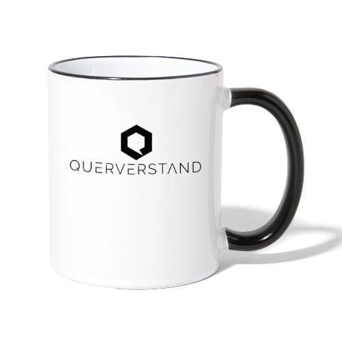 Querverstand - Tasse zweifarbig