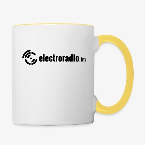 electroradio.fm - Tasse zweifarbig