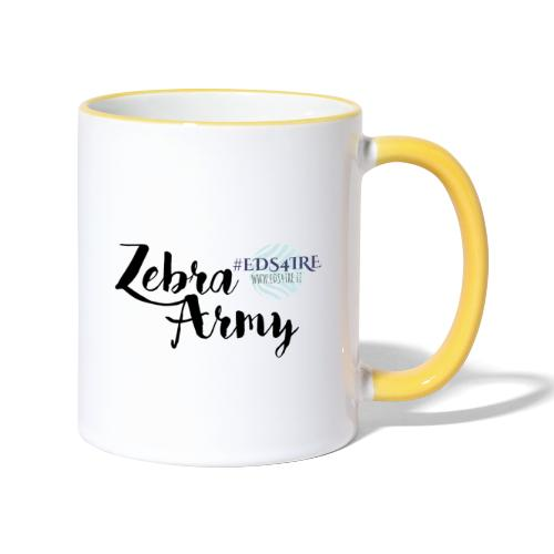Zebra Army (black) - Contrasting Mug