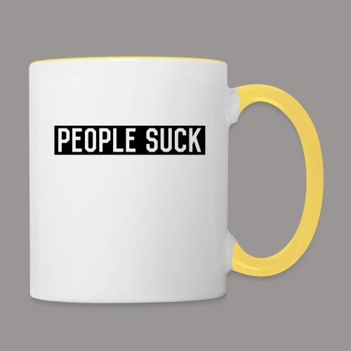 People Suck - Mok tweekleurig