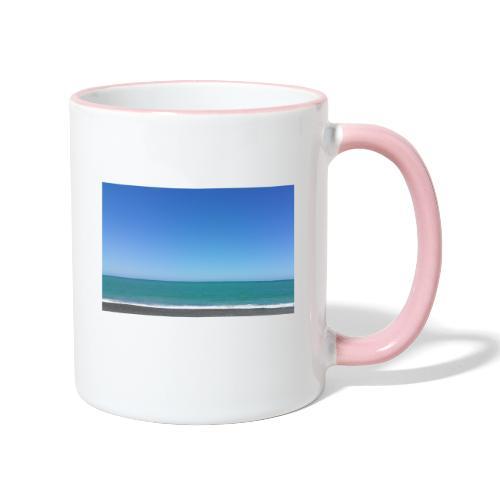 Napier Neuseeland - blauer Himmel, Meer türkis - Tasse zweifarbig