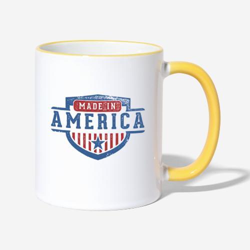 made in america - Tasse zweifarbig