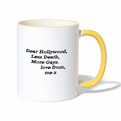 Dear Hollywood - Contrasting Mug
