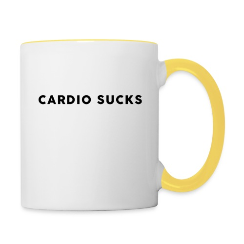 Cardio Sucks - Tasse zweifarbig