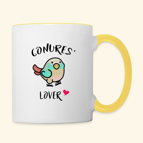Conures' Lover: blue cinamon - Mug contrasté