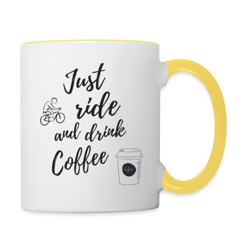 Just Ride & Drink Coffee - Contrasting Mug
