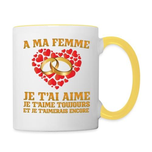 A ma femme, je t'aime - Mug contrasté