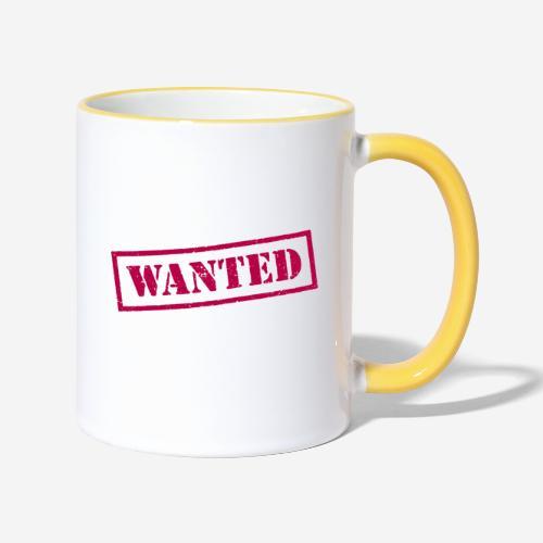 wanted - Tasse zweifarbig