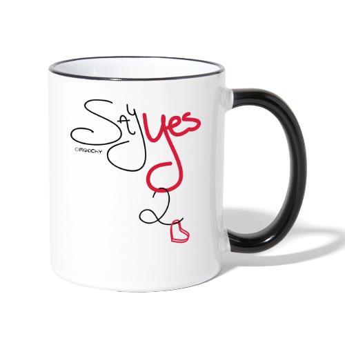 Yes 2 Love - Mok tweekleurig