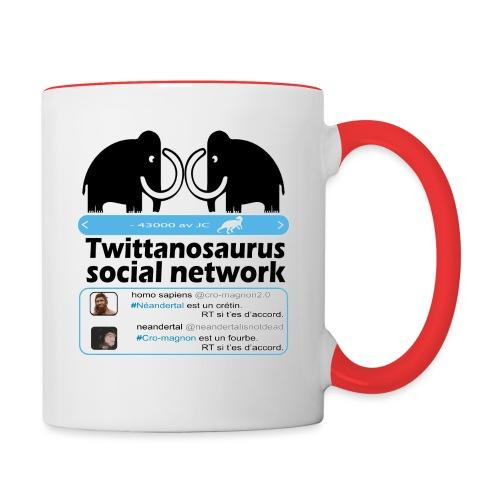homo sapins versus neandertal - Mug contrasté