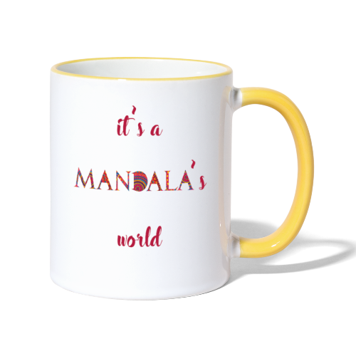 It's a mandala's world - Contrasting Mug