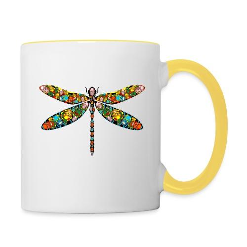 DRAGONFLY SKULL - Tasse zweifarbig
