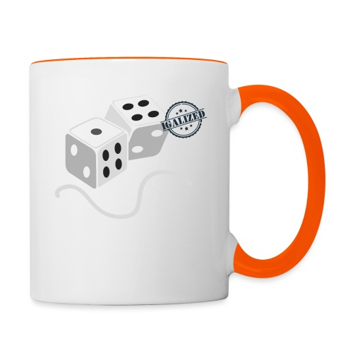 Dice - Symbols of Happiness - Contrasting Mug