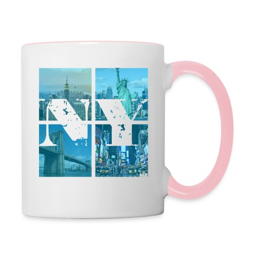 NEW YORK BLUE - Tasse zweifarbig