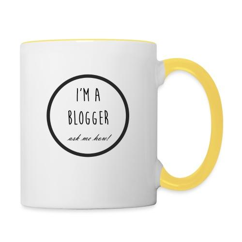 I'm a Blogger, ask me how! - Contrasting Mug
