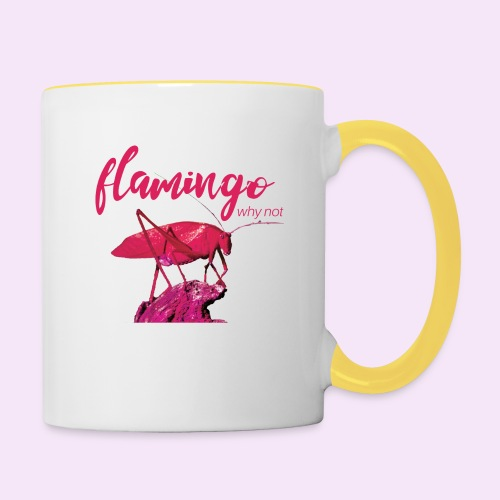 Wannabe Flamingo Sprinkhaan HOT PINK BABY - Mok tweekleurig