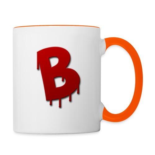 4k logo rood - Mok tweekleurig