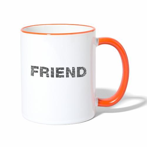 Przyjaciel - Kubek dwukolorowy