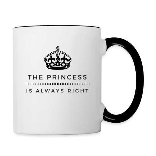 THE PRINCESS IS ALWAYS RIGHT - Tasse zweifarbig