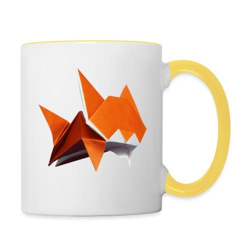 Jumping Cat Origami - Cat - Gato - Katze - Gatto - Contrasting Mug