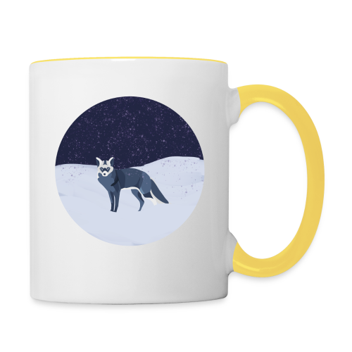Blue fox - Kaksivärinen muki