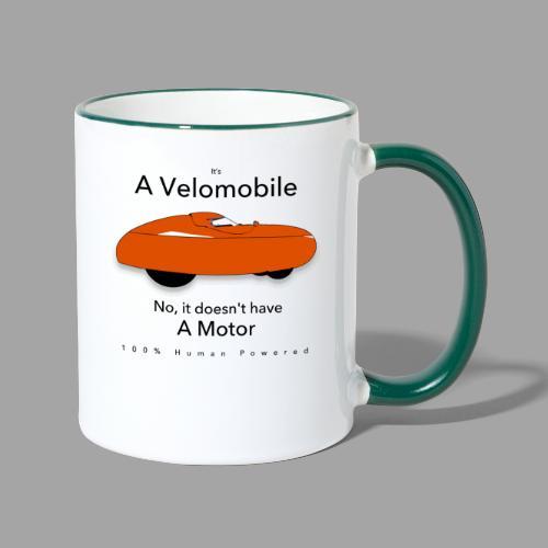it s a velomobile black text - Kaksivärinen muki