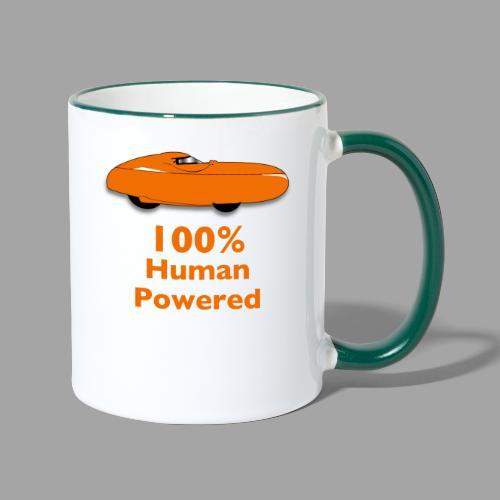 100% human powered - Kaksivärinen muki