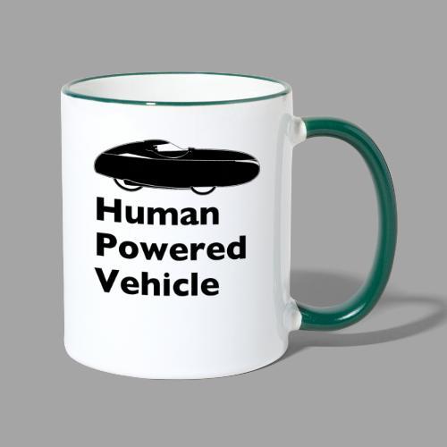 Quest Human Powered Vehicle 2 black - Kaksivärinen muki