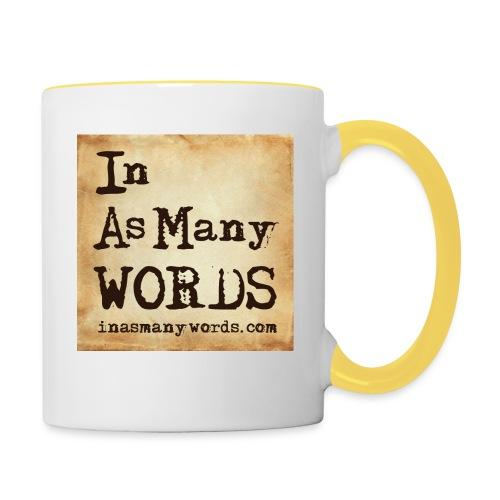 I AM Words LOGO_Brown - Contrasting Mug