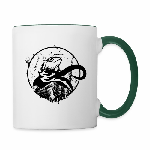Bearded Dragon - Tasse zweifarbig