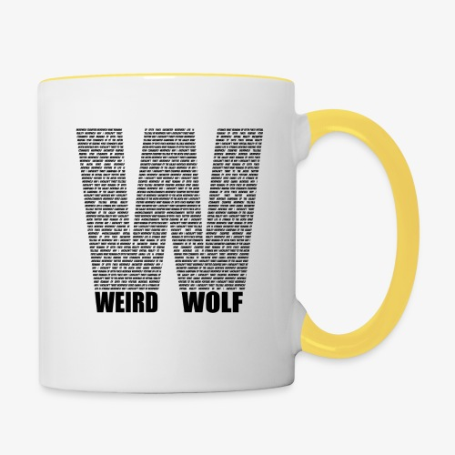 The Big W (Black) - Contrasting Mug